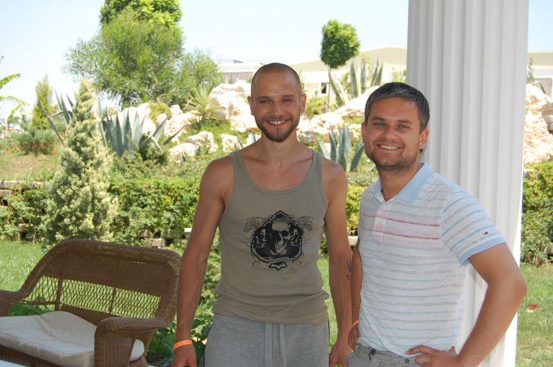 Rimas Valeikis ir Edvardas Žičkus Marmaryje.