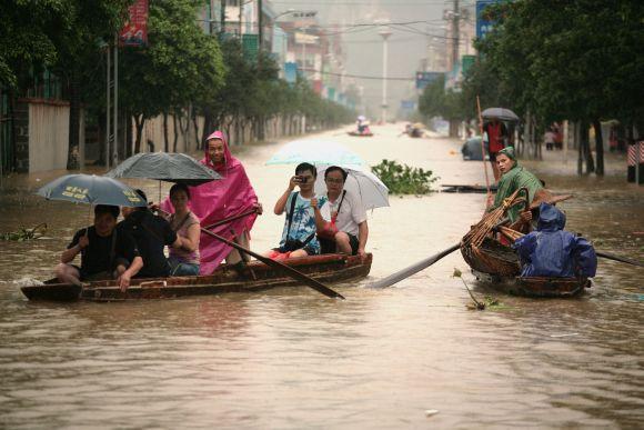 Potvynis pietų Kinijoje