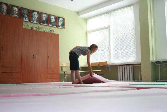 """Apie 4000 """"Europiados"""" dalyvių apsistos įvairiose Klaipėdos mokyklose."""