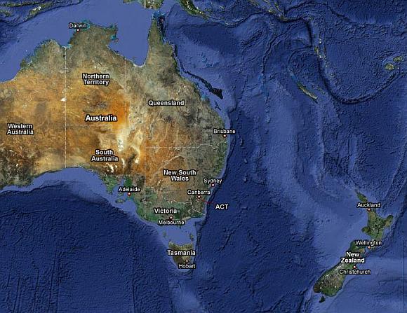 Australiją ir Naująją Zelandiją skirianti Tasmano jūra susiaurėjo.