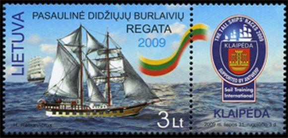 Naujasis pašto ženklas skirtas regatai.