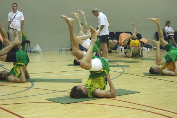 Rinktinės nariai pradėjo treniruotis Klaipėdoje.