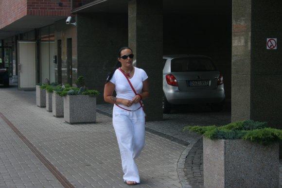 G.Kubiliūtės nuotr./Vieno ia pagrobtųjų dukra K.Bazevičiūtė.