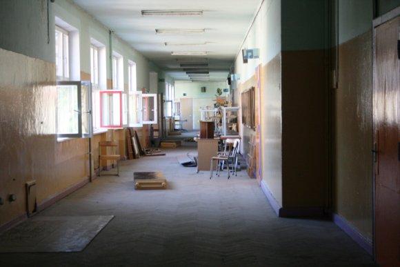 G.Kubiliūtės nuotr./Gimnazijos renovacija.