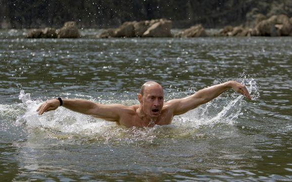 Galingasis Rusijos premjeras ir upes perplaukia, ir kalnus perkopia.