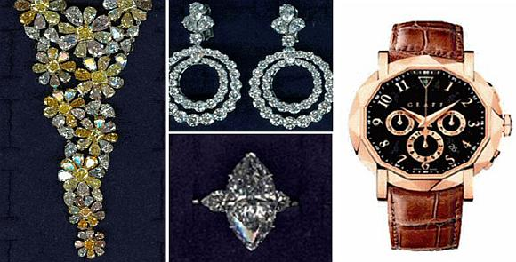 """Iš parduotuvės """"Graff Diamonds"""" pagrobtosios milijonus kainuojančios vertybės"""