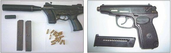 """Samdomų žudikų mėgstami """"Agram"""": bei perdirbti dujiniai pistoletai į Didžiąją Britaniją keliaudavo suslėpti vilkikuose."""