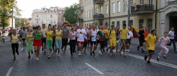 """Susivienijimo bėgimo """"Širdis plaka Baltijai"""" akimirkos"""