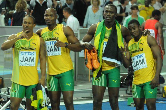 Jamaikos sprinterių džiaugsmas