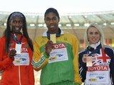 """AFP/""""Scanpix"""" nuotr./C.Semenya visgi atsiėmė aukso medalį"""