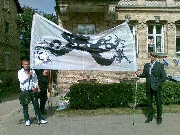 Protestas prie Vokietijos ambasados