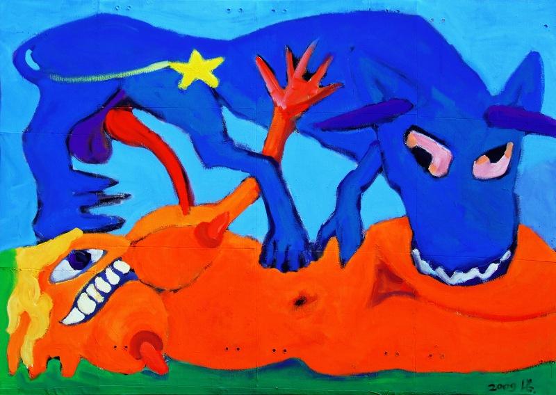 """Č.Lukensko kūrinys """"Europos žlugimas""""."""