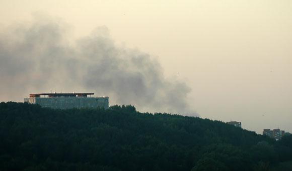 Šie gaisro dūmai sukėlė nerimo kai kuriems vilniečiams