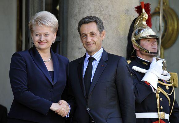 Dalia Grybauskaitė ir Nicolia Sarkozy
