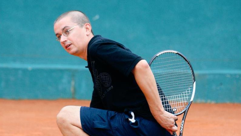 Foto naujienai: Aleksandras Pogrebnojus. Ir jį užvaldė tenisas!