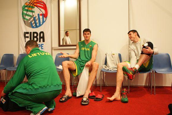 ALietuvos rinktinė intensyviai ruošiasi Europos vyrų krepšinio čempionato kovoms.