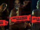 Regenbogen e.V reklaminės kampanijos plakatai/Apie AIDS grėsmę perspėja trys diktatoriai.