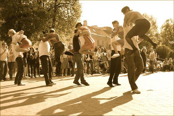 Lindyhopo šokėjai