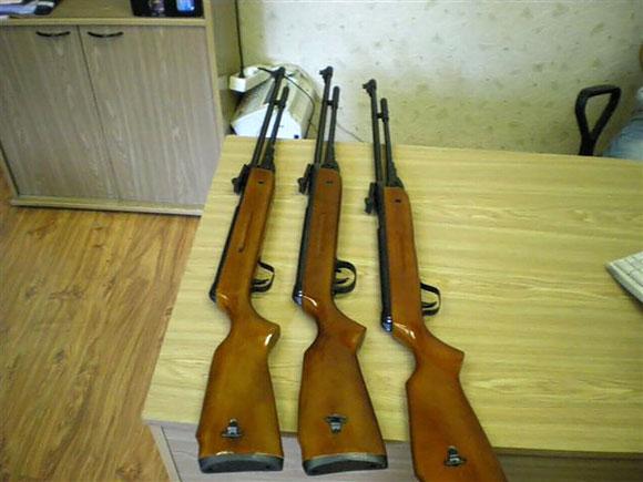 Iš Lentvario gyventojo konfiskuoti ginklai