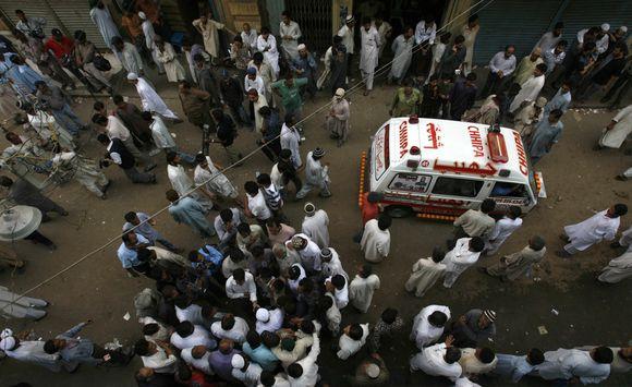 Žmonės Pakistane žuvo per spūstį