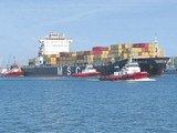 """LŽ nuotr./Didžiausias konteinervežis per visą uosto istoriją """"MSC Aniello"""""""