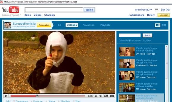 """""""Panda sugėdintoja""""."""