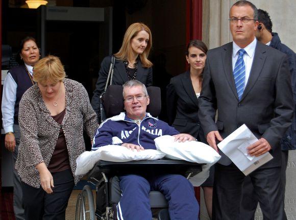 Christianas Rossiteris po teismo posėdžio