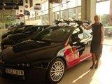 """Organizatorių nuotr./Naujasis S.Krupeckaitės automobilis - """"Alfa Romeo 159 Sportwagon"""""""
