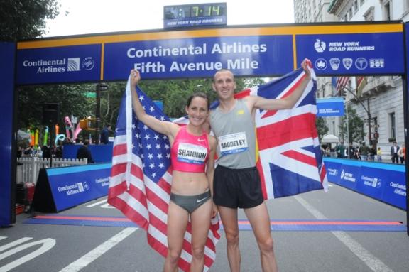 Britas Andy Baddeley ir amerikietė Shannon Rowbury.