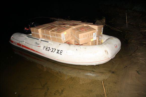 Sulaikyta kontrabandininkų valtis