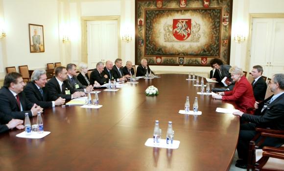 D.Grybauskaitės ir asocijuotų verslo struktūrų susitikimas
