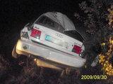 """Utenos policijos nuotr./Automobilis """"Audi"""" po avarijos"""