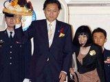 """AFP/""""Scanpix"""" nuotr./Japonijos premjeras Y.Hatoyama kartu su žmona Miyuki atvyko į Kopenhagą palaikyti Tokijo kandidatūrą"""
