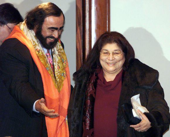 Mercedes Sosa ir Luciano Pavarotti