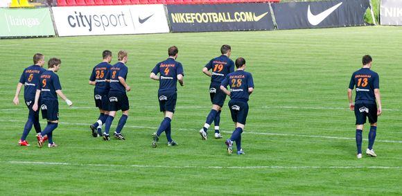 """""""Bangos"""" vienuolikė atrėmė visus """"Ventspils"""" futbolininkų išpuolius"""