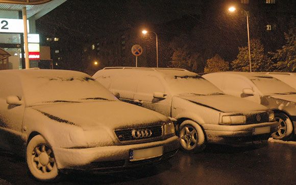 Trečiadienio naktį Vilniuje iškrito pirmasis sniegas