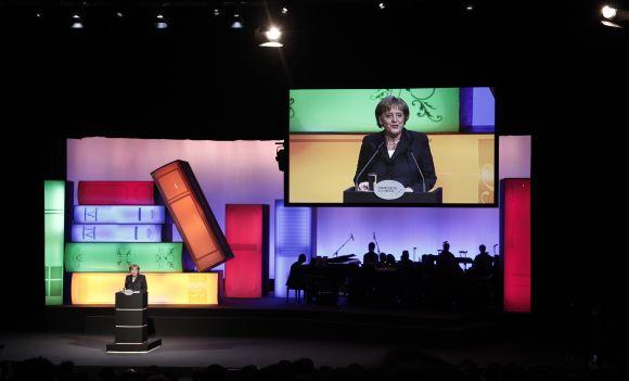 A.Merkel atidaro Frankfurto knygų mugę