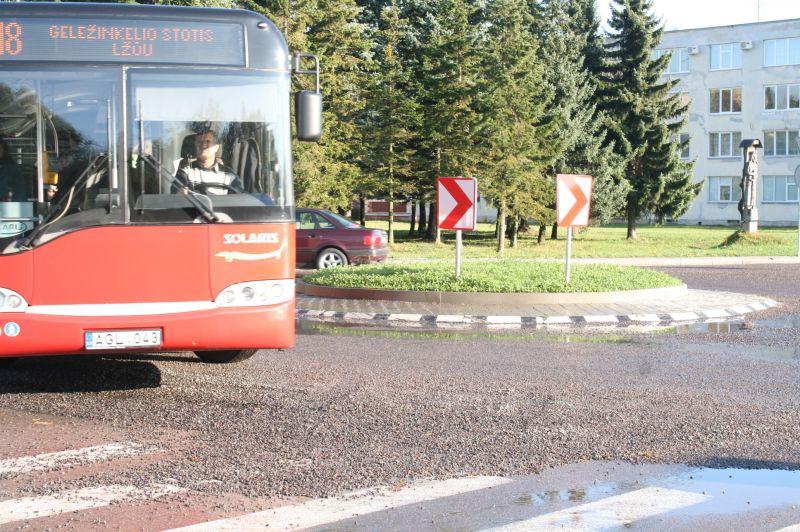 Pirmoji žiedinė sankryža Kauno rajone