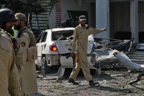 Sprogimas Pakistane prie restorano Pešavare