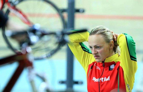 Alfredo Pliadžio nuotr./Simona Krupeckaitė, tapusi Europos dviračių treko čempionato moterų sprinto daugiakovės varžybų nugalėtoja, spalio 2325 d. dalyvauja atvirame Lietuvos dviračių treko čempionate Panevėžyje.