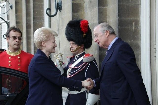 Belgų karalius siūlo paramą D.Grybauskaitei.
