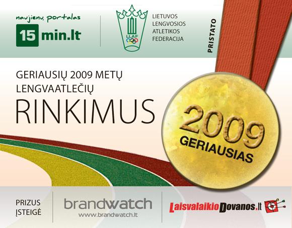 2009 metų lengvaatlečio ir lengvaatletės rinkimai startavo lapkričio 2 dieną
