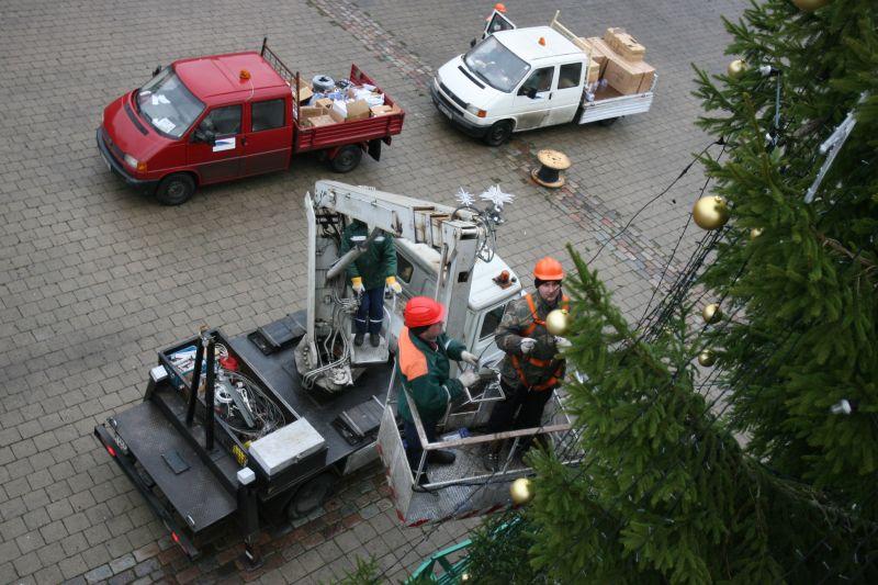 Kalėdinės eglės Kaune stovės tradicinėse vietose: dviejose aikštėse ir Laisvės alėjos ir S.Daukanto g. sankirtoje