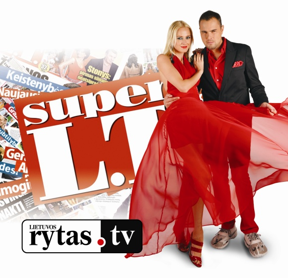 """Super L.T."" vedėjai V.Repčenkaitė-Blėdienė ir J.Morkūnas"