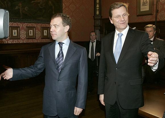 Dmitrijus Medvedevas ir Guido Westerwelle