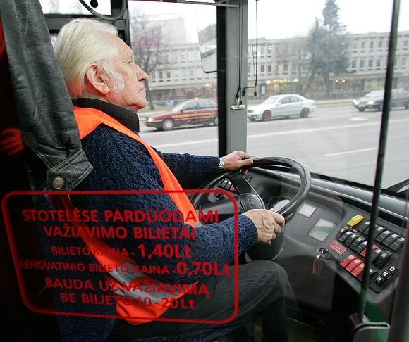 Troleibuso vairuotojas