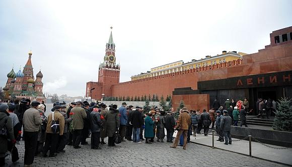 Eilė prie V.Lenino mauzoliejaus