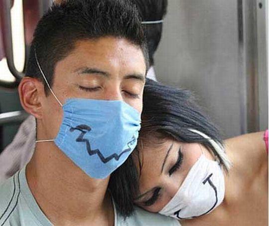 Šypseną galima išsipiešti ir ant vienkartinių kaukių, respiratorių