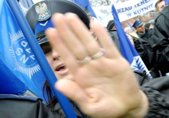 Policijos streikas Varšuvoje