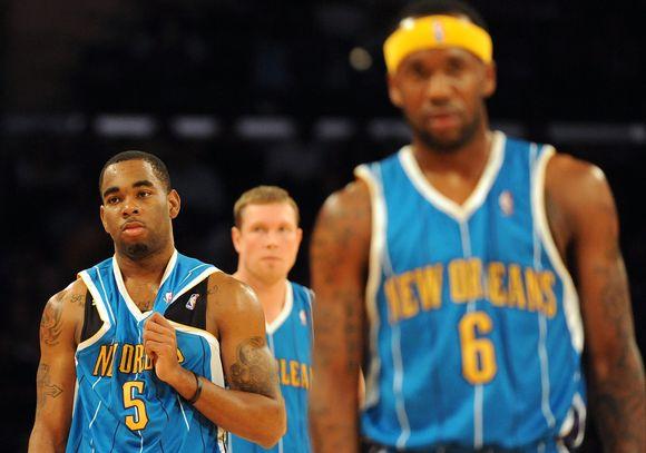 """""""Lakers"""" ir """"Hornets"""" rungtynių akimirkos"""